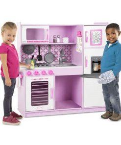 מטבח מליסה ודאג לילדים צבע ורוד עשוי עץ איכותי
