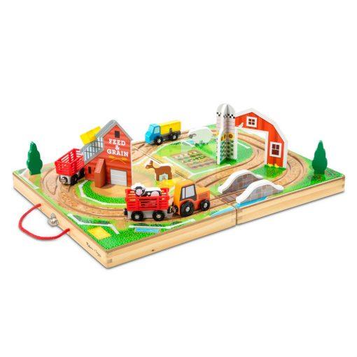 משחק בקופסת עץ מליסה ודאג בנושא חווה כפרית