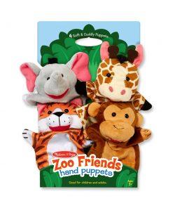 בובות יד גן החיות מבית מליסה ודאג