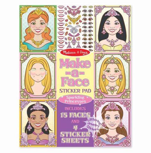 חוברת מדבקות נסיכות מבית מליסה ודאג