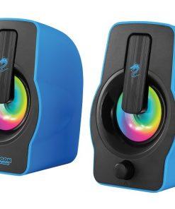 רמקול בצבע כחול עם תאורת RGB ממותג דראגון