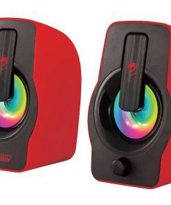 רמקול בצבע אדום עם תאורת RGB ממותג דראגון