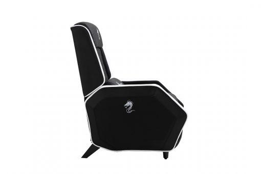 כורסא לגיימינג עם רגליים עולות בצבע לבן