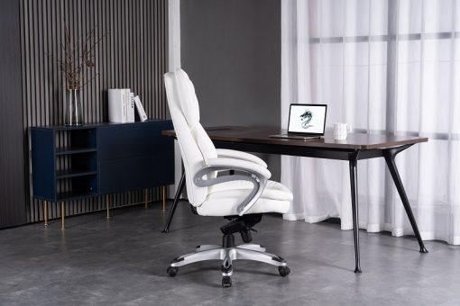 כיסא מנהלים לבן של דראגון